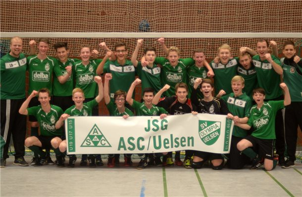 Beckhuis Uelsen fußballer der jsg asc uelsen feiern doppelsieg