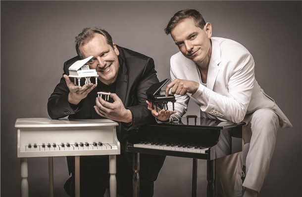 Showpianisten David & Götz im Theater der Obergrafschaft