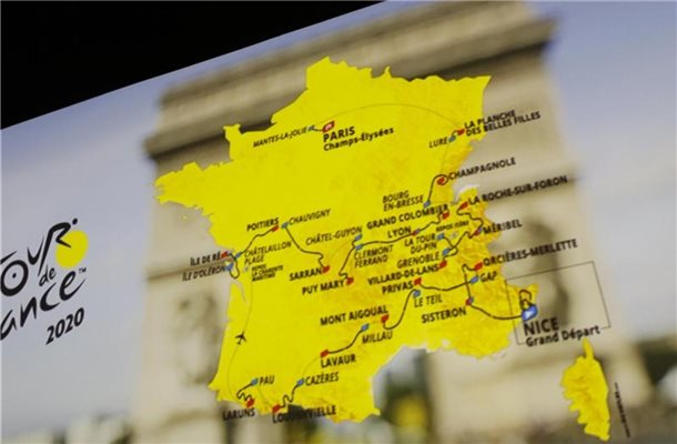 Am 29. August soll die Tour de France 2020 in Nizza starten. Foto: Thibault Camus/AP/dpa