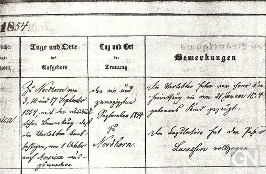 Nordhorner reisen 1854 aus dem Elend in die Hoffnung
