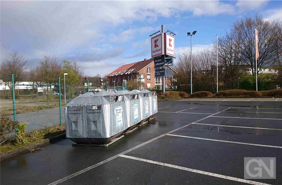 Neue Altglascontainer am Kaufland-Markt in Nordhorn