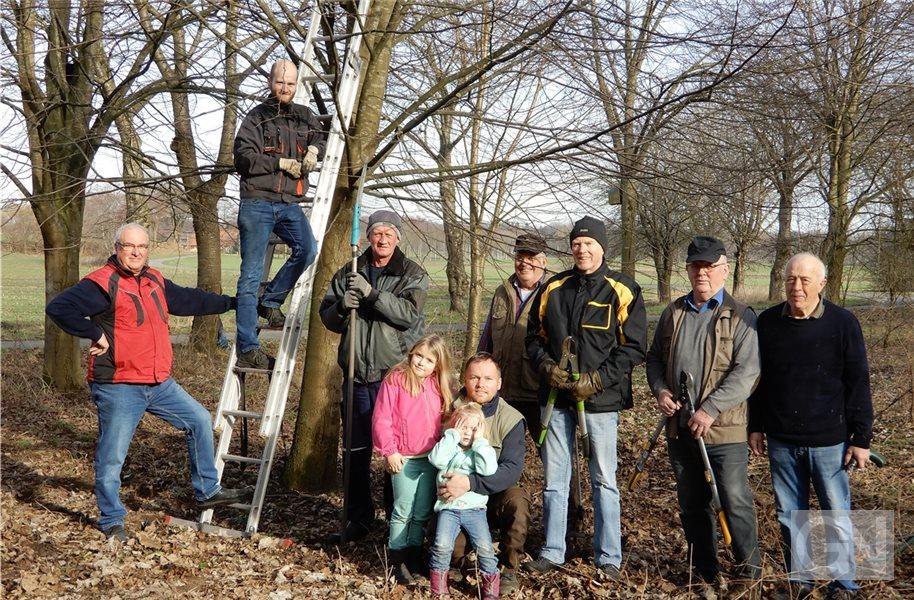 Vogelliebhaber und BUND pflegen Obstbäume in Uelsen