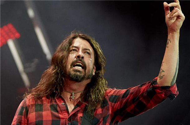 Foo-Fighters-Frontmann Dave Grohl beim Festival Rock am Ring 2018. Foto: Thomas Frey/dpa