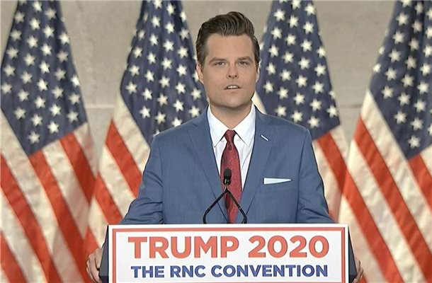 Gegen den Republikaner Matt Gaetz wird nun offiziell ermittelt. Foto: -/Courtesy of the Committee on Arrangements for the 2020 RNC/AP/dpa