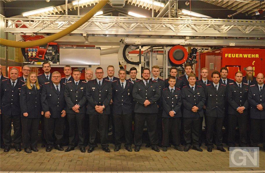 Viele Beförderungen bei der Nordhorner Ortsfeuerwehr