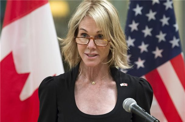 Kelly Knight Craft war bisher Botschafterin der USA in Kanada. Foto: Adrian Wyld/The Canadian Press via AP
