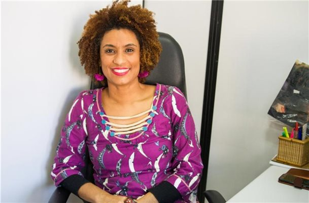 Marielle Franco war am 14. März 2018 in ihrem Auto erschossen worden. Foto: Fotoarena/Zuma Press