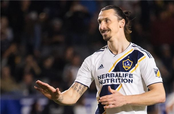 Steht mit LA Galaxy in der zweiten Runde der MLS-Playoffs: Zlatan Ibrahimovic. Foto: Joel Marklund/Bildbyran via ZUMA Press/dpa