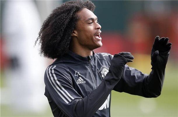 Tahith Chong im Traing bei Manchester United. Foto: Martin Rickett/PA Wire/dpa/archiv