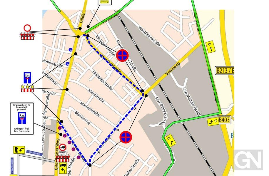 Blanke: Zwei Spuren des Kreisverkehrs ab Montag gesperrt