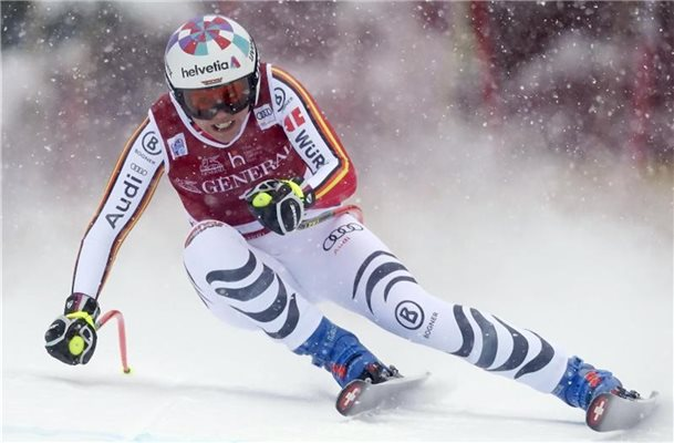 Viktoria Rebensburg kam in Lake Louise auf Rang vier. Foto: Frank Gunn/The Canadian Press/AP/dpa