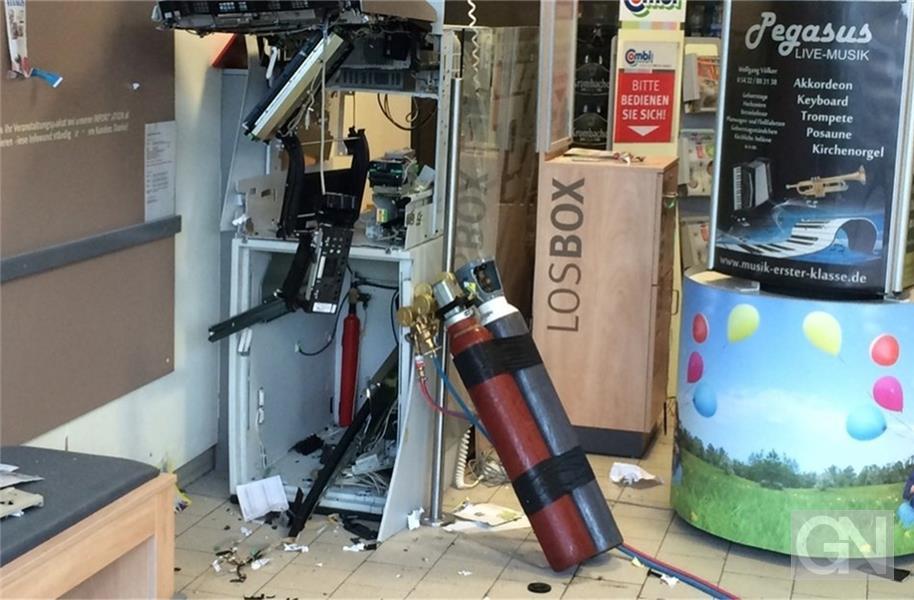 Bankautomat Gesprengt